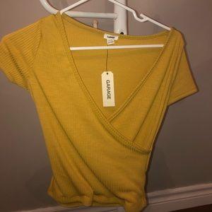 Yellow Crop-Top T-Shirt